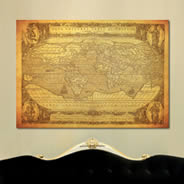 Ancient Globe World Map wall canvas
