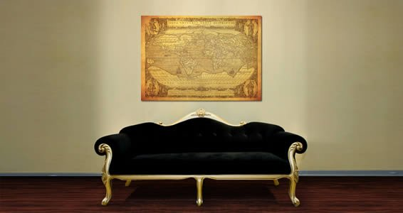 Ancient globe world map wall canvas dezign with a z gumiabroncs Gallery