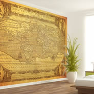 Antique World Map wall murals