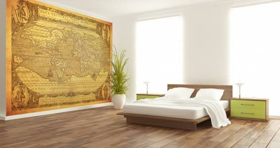 Dry Erase Antique World Maps decals
