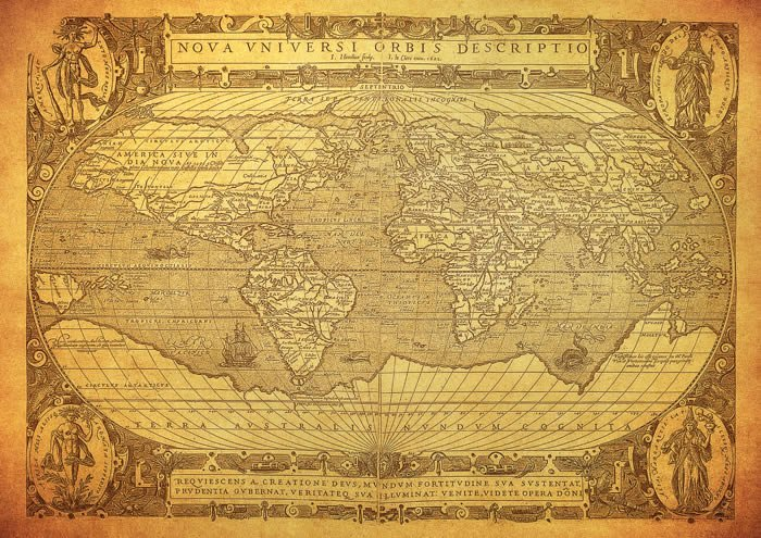 Ancient Globe World Map wall canvas | Dezign With a Z