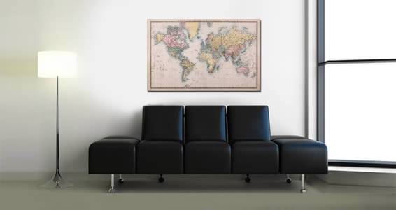 Old style world maps wall canvas dezign with a z old style world maps wall canvas gumiabroncs Image collections