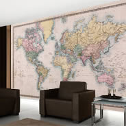 Old Style World Maps wall mural