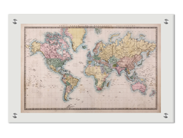 World Map Old Style.Old Style World Map Plexiglass Stand Off Dezign With A Z