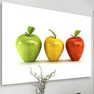 Apples digital photos on canvas