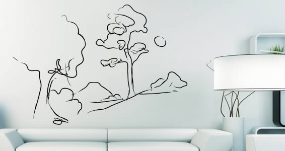 Peaceful Landscape wall decals