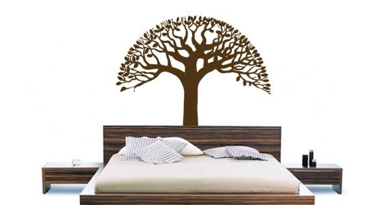 Tree Bowl vinyl wall stickers