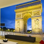 Artistic circuit board wall murals dezign with a z for Arc de triomphe wall mural