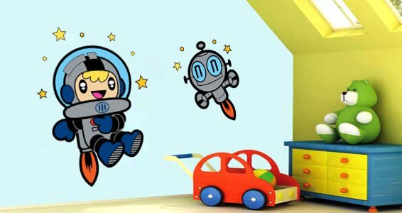 Kids Astronaut  wall stickers by Charuca