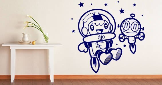 Space Kids removable stickers