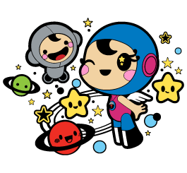 Space Girls wall decals by Charuca
