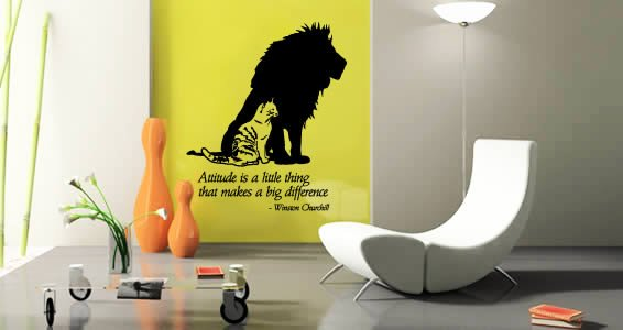 Attitude wall decals quotes