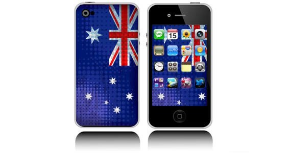 Australian Flag iPhone decals skins