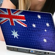 Australian Flag laptop decals skin
