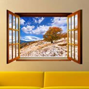 Autumn Tree Faux Window Murals