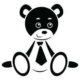 Baby Bear vinyl wall decals