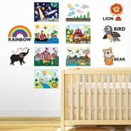 Baby Visual Stimulation Wall Decals- set of 20