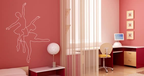 Ballerinas wall decals