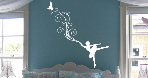 Prima Ballerina wall decals