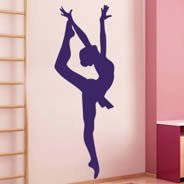 Ballet Dancer wall stickers