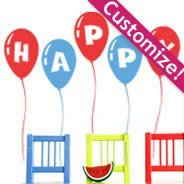 Personalized Lettering Balloon wall decals