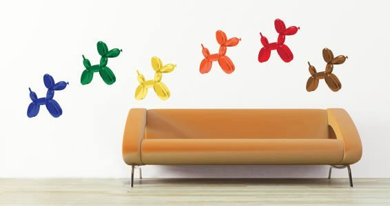 Balloon Dogs modern wall decals