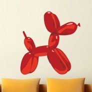 Balloon Dog contemporary wall decals