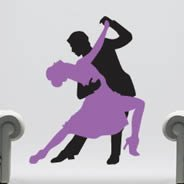 Ballroom Dancers decal