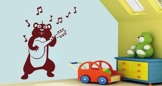 Banjo Hamster wall stick-ons