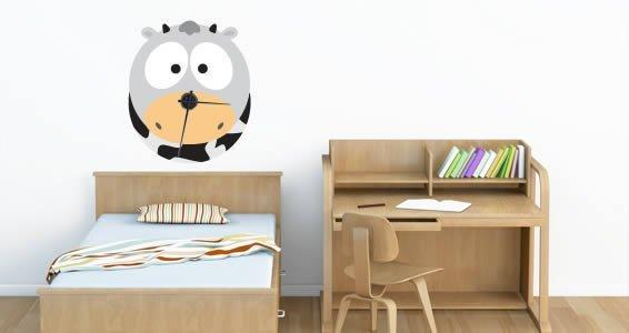 Barn Cow clock wall sticker