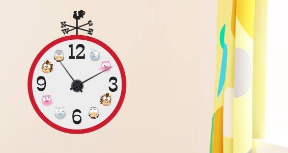 Barn Friends wall decal clock