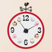 Barn Friends wall decal clock
