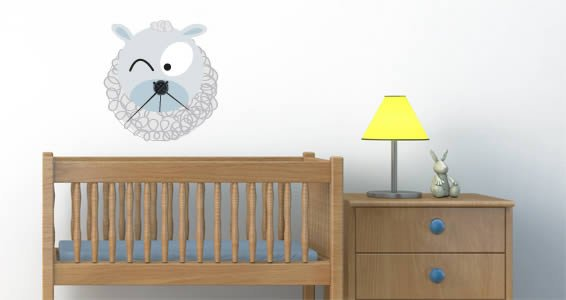 Sheep Barn Friend Clock decal (with mechanism)