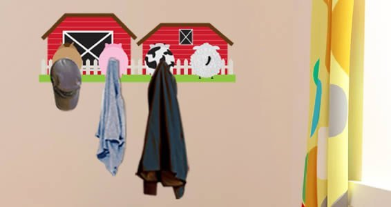 Barn Tails Coat Rack decals