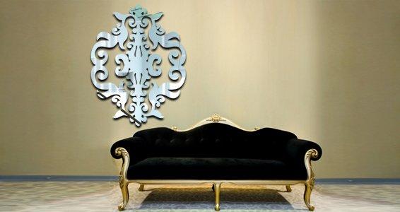 Baroque Damask acrylic wall mirrors