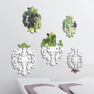 Baroque damask pack mirrors