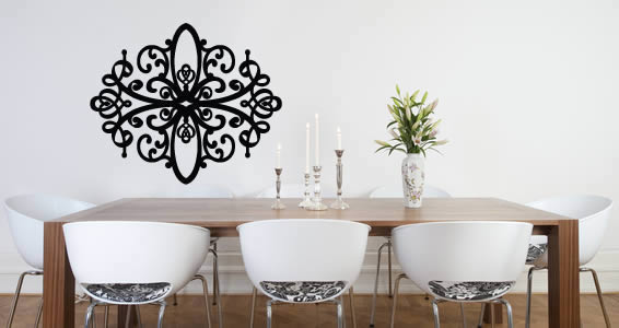 Baroque Contemporary Wall Decals | Dezign With A Z
