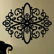 Baroque contemporary wall decals