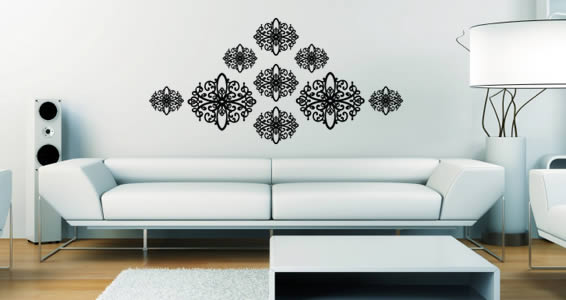 Duo Baroque pack wall decals