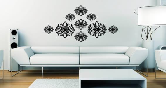 Baroque modern wall decals
