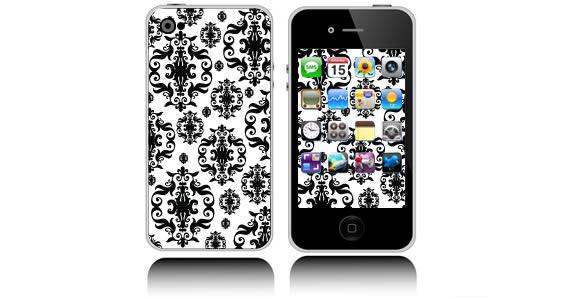 Baroque iPhone decals skin
