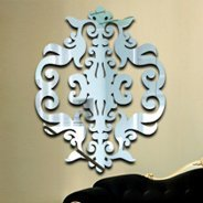 Baroque Damask acrylic wall mirrors & Acrylic Wall Mirror - Resin Wall Mirrors | Dezign With a Z
