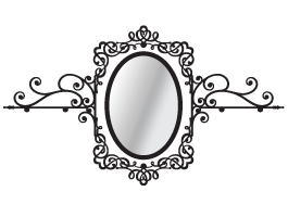 Baroque Rack with Oval Mirror decal
