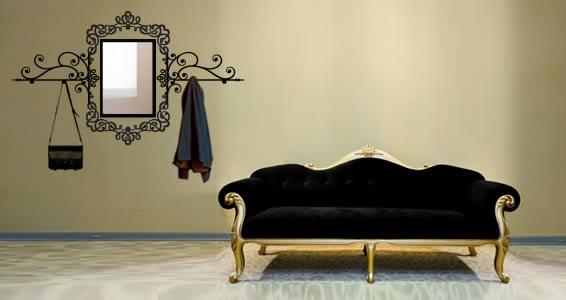Baroque Rectangle Mirror coat rack