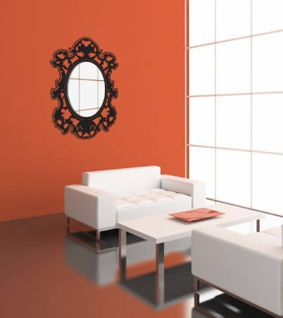 Venitian acrylic miror and vinyl dezign with a z for Baroque resin mirror