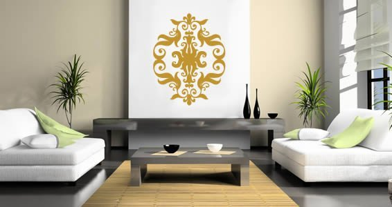 Giant Baroque wall decal