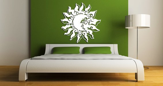 Baroque Sun wall appliques
