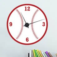 Baseball Clock wall decal
