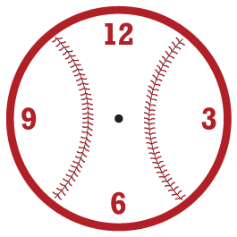 Baseball Clock wall decal (mechanism included)