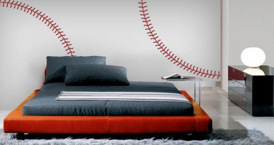 Superbe Baseball Stitches Wall Decals